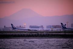 羽田空港と富士