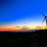 CANON Canon EOS 70Dで撮影した(マジックアワーに浮かぶ風車)の写真(画像)