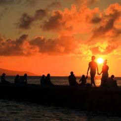 CANON Canon EOS 70Dで撮影した(西桟橋の夕日)の写真(画像)