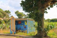 南の島の小さなバス停