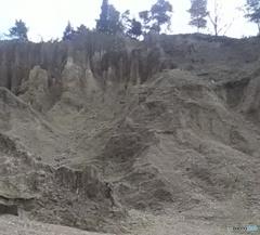 下から見た土柱