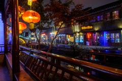 山塘街の夜景