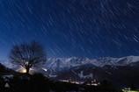 冬空と星と