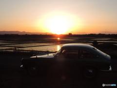 愛車と夕日と 2118