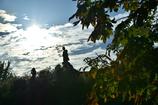 秋の空と親子