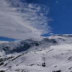 標高3,713mからの眺め