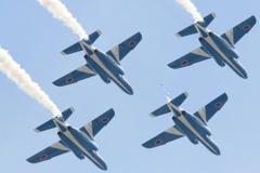 石巻川開き祭り ブルーインパルス飛行3