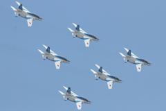 石巻川開き祭り ブルーインパルス飛行6
