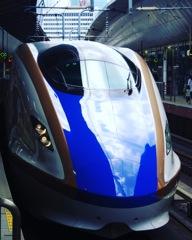 東京駅 青い新幹線