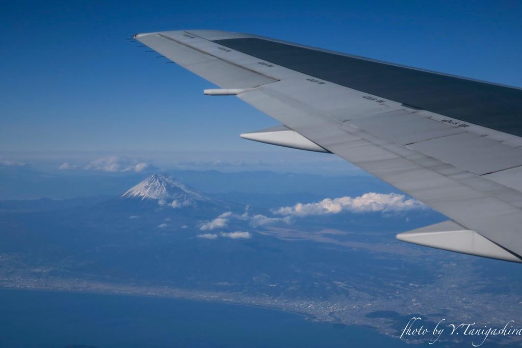 飛行機からー富士山