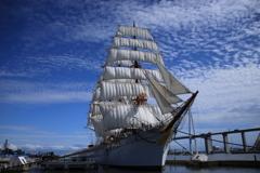 今日の帆船海王丸
