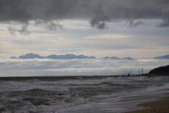 海と雲の風景
