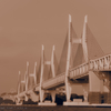 セピア色の瀬戸大橋*
