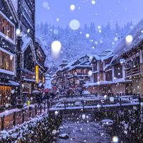 銀山温泉雪景色2