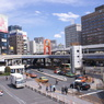 上野駅前のデッキ