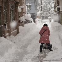 雪の降る 新庄