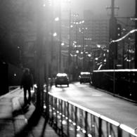 人の道、車の道、