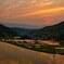 夕陽と棚田 弐