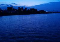 夕暮れの新中川