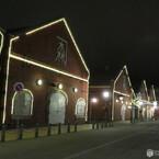 夜の函館 金森赤レンガ倉庫