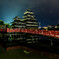 未明の松本城