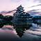 夜明けの松本城