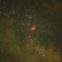 干潟星雲と三裂星雲(M8&M20)