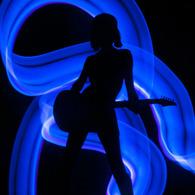 Guitar Girl 01/light painting