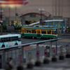 ジオラマ風鹿児島の路面電車