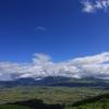 阿蘇大観望から望む阿蘇平野と阿蘇五岳