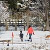 雪の朝の散歩