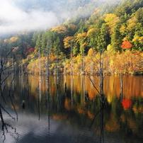 御岳 自然湖の朝