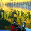 晩秋の自然湖