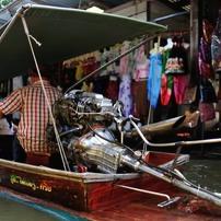 タイ王国 水上マーケット