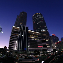 FISH-EYE夜景「ツインタワー」