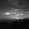 腰越漁港の夕暮れ