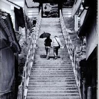 西方寺へ続く石段