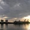 酒田港の夕景