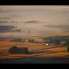 穀倉地帯の朝