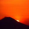 富士と落日