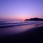 Sunset in the coastline.