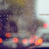 車待ち雨雫