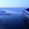 氷上のボート