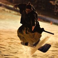 snowboarding samurai model.A