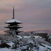 朝焼けの塔