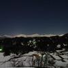 月下の北アルプス in 小川村