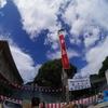 櫛田神社の清道旗(博多祇園山笠 2016 追山ならし)