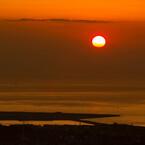 火の山公園からの夕陽
