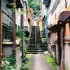 裏路地の階段