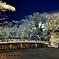 雪夜景・彦根城大手門